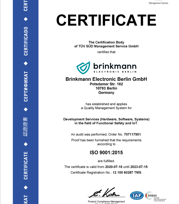 ISO 9001 Certificate Paper for Quality Management System